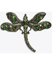 Tory Burch - Kenneth Jay Lane For Embellished Dragonfly Pin - Lyst
