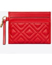 Tory Burch - Fleming Slim Card Case (brilliant Red) Credit Card Wallet - Lyst