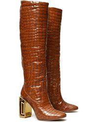 Tory Burch Jessa Metal-heels Boots - Brown