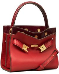 Tory Burch Lee Radziwill Petite Double Bag - Red