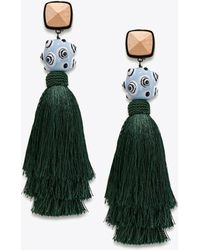 Tory Burch - Silk Tassel Earring - Lyst