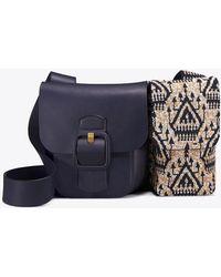 5e787c274bf3 Tory Burch - Sawyer Embellished Double-pocket Shoulder Bag - Lyst