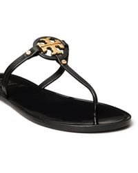Tory Burch Mini Miller Jelly Thong Sandals - Black