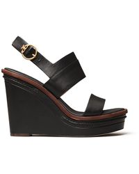 Tory Burch Selby Wedge Sandal - Brown