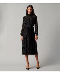 Tory Burch Velvet Devore Dress - Black