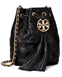 Tory Burch Fleming Soft Mini Bucket Bag - Black