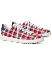 Tory Sport Howell Jacquard Golf Sneaker - Red