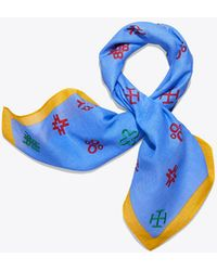 Tory Burch - Hicks Alphabet Embroidered Neckerchief - Lyst