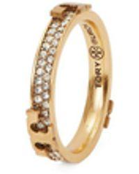 Tory Burch Serif T Pavé Ring - Metallic