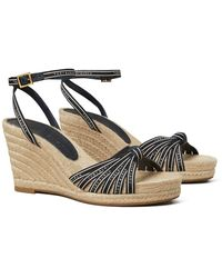 Tory Burch Tory Ribbon Wedge Espadrille - Multicolor