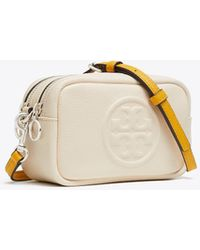 Tory Burch Perry Bombe Mini Leather Crossbody - Red