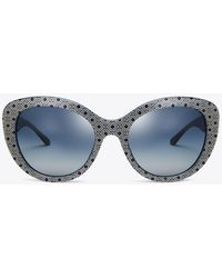 Tory Burch - Patterned Cat-eye Sunglasses - Lyst