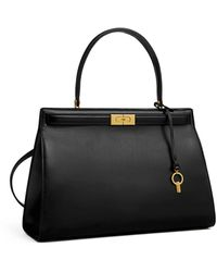 Tory Burch Lee Radziwill Small Satchel - Black