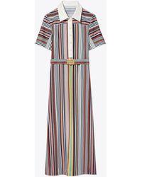 Tory Burch Striped Polo Dress - Multicolor