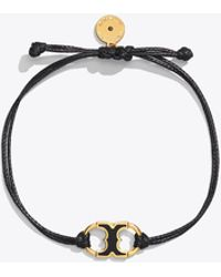 Tory Burch Embrace Ambition Enamel Bracelet - Black