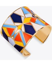 Tory Burch - Kaleidoscope Enameled Statement Cuff - Lyst