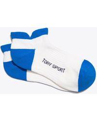 Tory Sport Performance Compression Color-block Socks - Blue