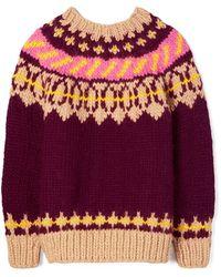 Tory Burch Fair Isle Wool Sweater - Multicolor