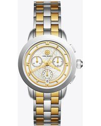 Tory Burch - Tory Watch, Two-tone/ivory Chronograph, 37 Mm - Lyst