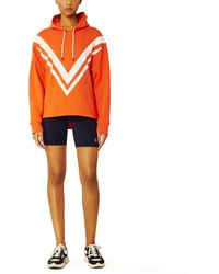 Tory Sport French Terry Chevron Hoodie - Orange