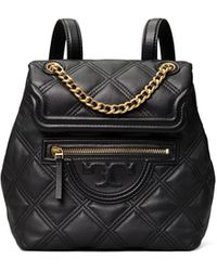 Tory Burch Fleming Soft Mini Backpack - Black
