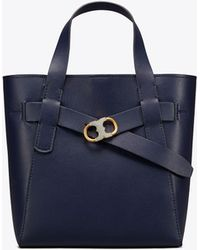 Tory Burch - Gemini Link Leather Small Tote - Lyst