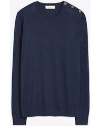 Tory Burch - Logo-button Sweater - Lyst