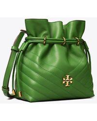 Tory Burch Kira Chevron Mini Bucket Bag - Green
