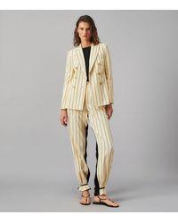 Tory Burch Striped Blazer - Natural