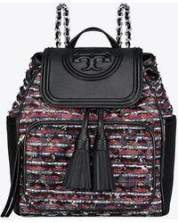 Tory Burch - Fleming Tweed Backpack - Lyst