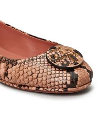 Tory Burch Minnie Travel Ballet Flats, Embossed Leather - Multicolour
