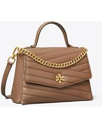 Tory Burch Kira Chevron Quilted Leather Top Handle Satchel - Brown