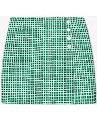 Tory Sport Printed Tech Twill Golf Skort - Green