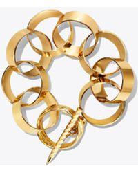 Tory Burch - Sheet-metal Link Bracelet - Lyst
