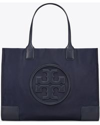 614a575c7c6d Tory Burch Vilette Small Faux-Leather Tote in Black - Lyst