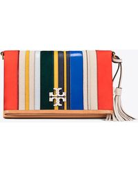 Tory Burch - Mcgraw Striped Fold-over Cross-body - Lyst