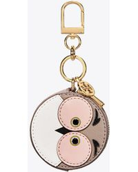 Tory Burch - Owl Coin Pouch Key Ring - Lyst