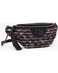 6465b79100b7 Tory Burch Fleming Tweed Convertible Shoulder Bag - Lyst