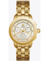 Tory Burch - Tory Watch, Gold-tone/ivory Chronograph, 37mm - Lyst