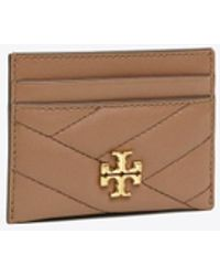 Tory Burch Kira Chevron Card Case - Brown