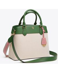 Tory Burch - Robinson Canvas Triple-compartment Tote   905   Totes - Lyst