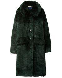 Tory Burch Faux Fur Coat - Grün