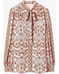 Tory Burch - Kia Bow Blouse - Lyst
