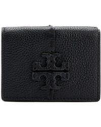 Tory Burch Mcgraw Trifold Mini Wallet - Black