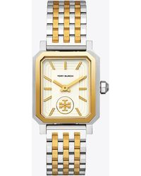 Tory Burch - Robinson Watch, Two-tone Gold/stainless Steel/cream, 27 X 29 Mm - Lyst