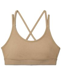 Tory Sport Compression M ©lange Cross-back Bra - Natural