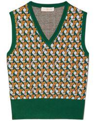Tory Burch Basket-weave Sweater Vest - Multicolor