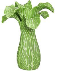 Tory Burch Lettuce Ware Candlestick, Set Of 2 - Green
