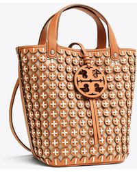 Tory Burch - Miller Leather Chainmail Bucket Bag - Lyst