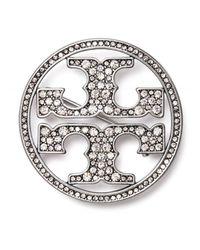 Tory Burch 'miller Pavé' Brooch - Metallic